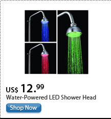 Water-Powered LED Shower Head