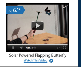 Solar Powered Flapping Butterfly