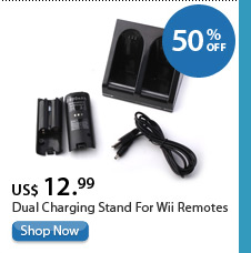Dual Charging Stand For Wii Remotes