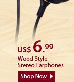 Wood Style Stereo Earphones