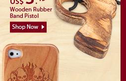 Wooden rubber band pistol
