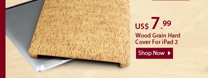 Wood Grain Hard Cover For iPad 2