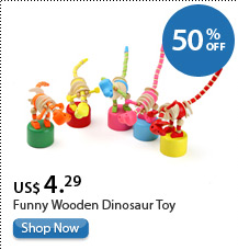 Funny Wooden Dinosaur Toy