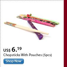 Chopsticks with pouches(5pcs)