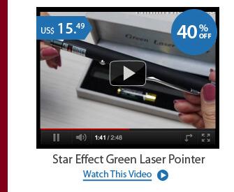 Star Effect Green Laser Pointer