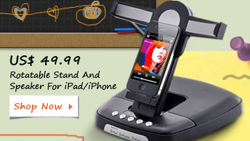 Rotatable Stand And Speaker For iPad/iPhone