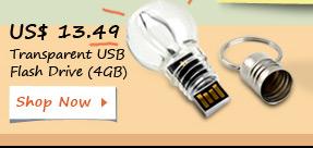 Transparent USB Flash Drive (4GB)