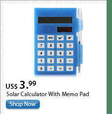 Solar Calculator With Memo Pad