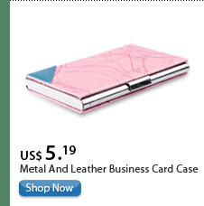 Metal And Leather Business Card Case