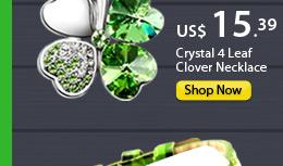 Crystal 4 Leaf Clover Necklace