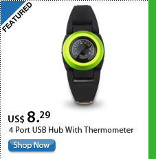 4 Port USB Hub With Thermometer