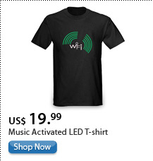 Music Activated LED T-shirt