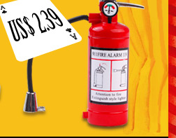 Extinguisher Shaped Gas Lighter With Light