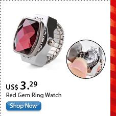 Red Gem Ring Watch