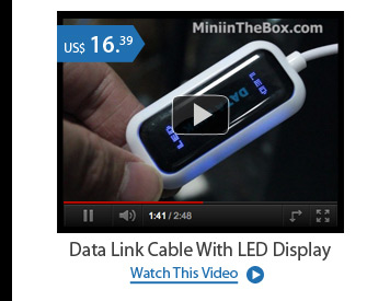 Data Link Cable With LED Display