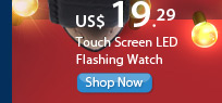 Touch Screen LED Flashing Watch