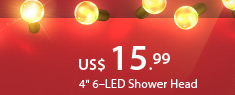 "4"" 6–LED Shower Head"