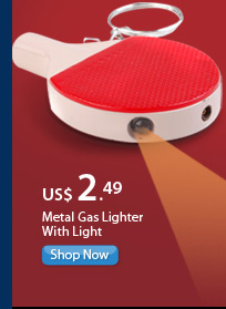 Metal Gas Lighter With Light