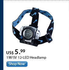 1W/5V 12-LED Headlamp