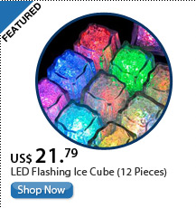 LED Flashing Ice Cube (12 Pieces)