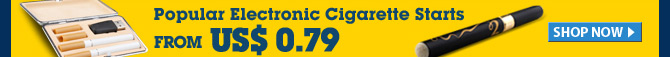 Popular Electronic Cigarette Starts From US$ 0.79