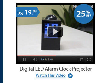 Digital LED Alarm Clock Projector