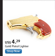 Gold Pistol Lighter