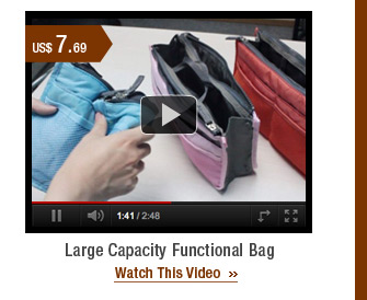 Large Capacity Functional Bag