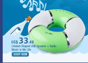 Lifebelt Shaped USB Speaker + Radio
