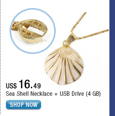 Sea Shell Necklace + USB Drive