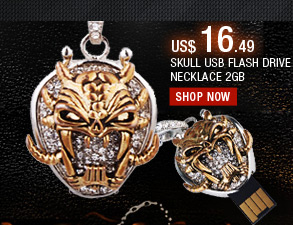 Skull USB Flash Drive Necklace