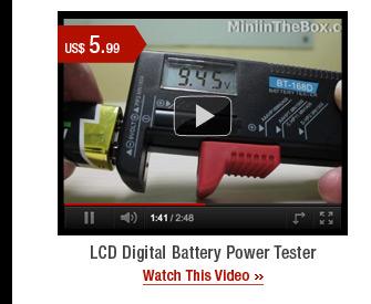 LCD Digital Battery Power Tester