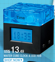 Water Cube Clock & USB Hub
