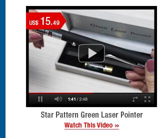 Star Pattern Green Laser Pointer