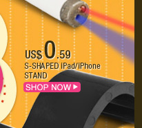 S-Shaped iPad/iPhone Stand