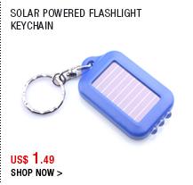 Solar Powered Flashlight Keychain