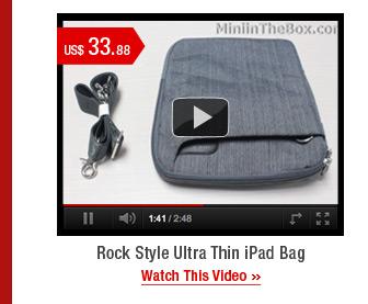 Rock Style Ultra Thin iPad Bag