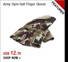 Army Style Half Finger Gloves