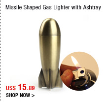 Missile Shaped Gas Lighter with Ashtray
