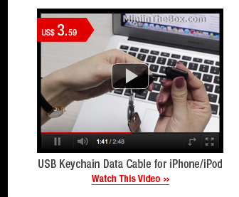 USB Keychain Data Cable for iPhone/iPod