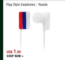 Flag Style Earphones - Russia