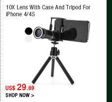 10X Lens With Case And Tripod For iPhone 4/4S