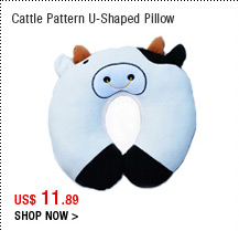 Cattle Pattern U-Shaped Pillow