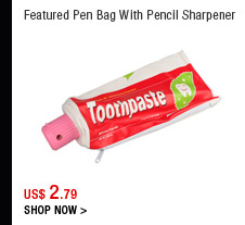 Featured Pen Bag With Pencil Sharpener