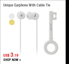 Unique Earphone With Cable Tie