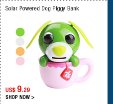 Solar Powered Dog Piggy Bank