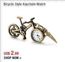 Bicycle Style Keychain Watch