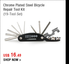 Chrome Plated Steel Bicycle Repair Tool Kit