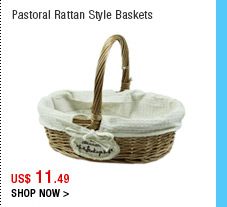 Pastoral Rattan Style Baskets