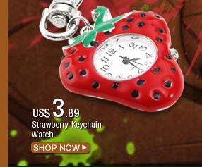 Strawberry Keychain Watch